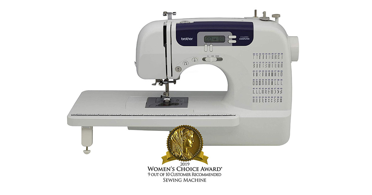 Brother CS6000i Auto Needle Threader 60 Built-In Stitches Sewing and Quilting Machine image
