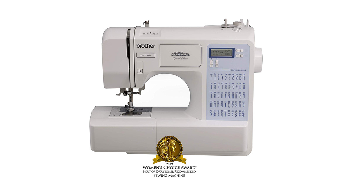Brother Project Runway CS5055PRW Electric 50 Built-In Stitches Sewing Machine image