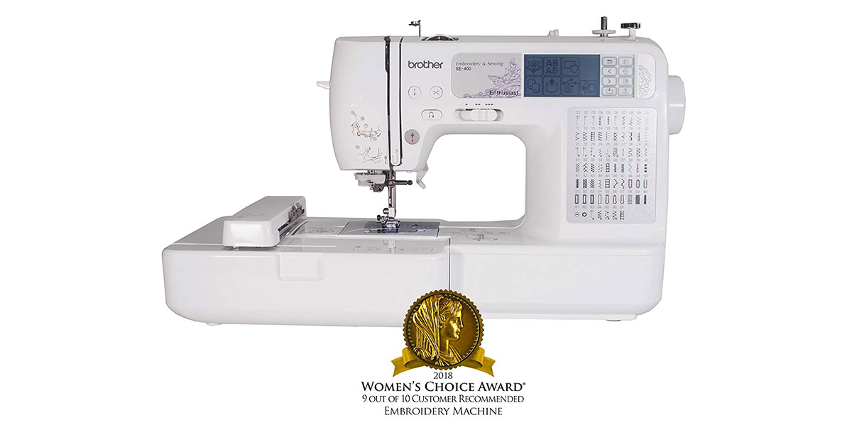 Brother SE400 Combination Computerized 67 Built-in Stitches Sewing Machine image