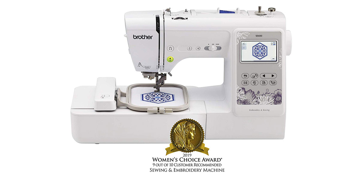 Brother SE600 103 Built-In Sewing Stitches White Sewing Machine image