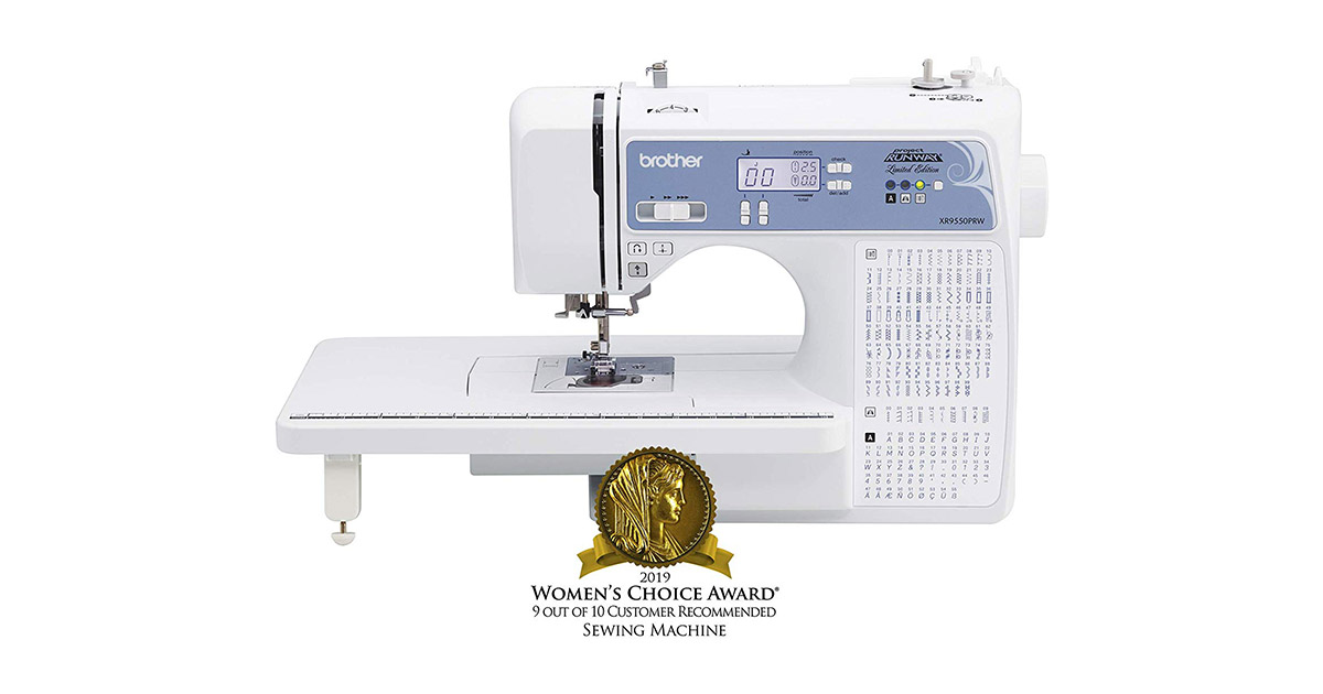Brother XR9550PRW Computerized 110 Built-in Utility White Sewing Machine image
