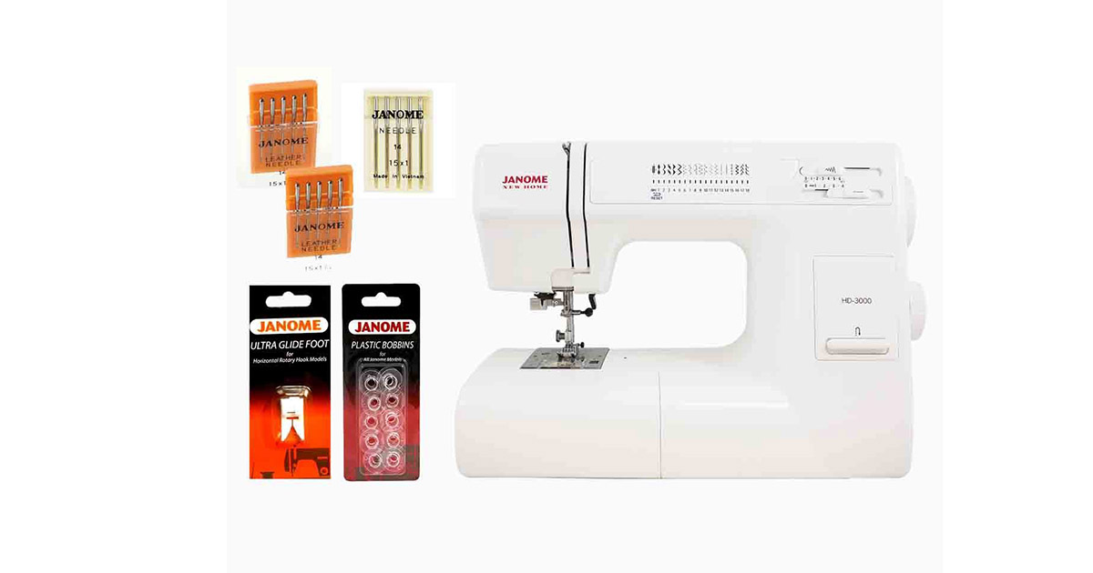 Janome HD3000 Heavy Duty Sewing Machine image