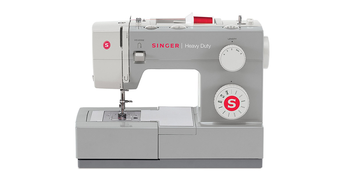 SINGER 4411 Heavy Duty Metal Frame and Stainless Steel 11 Built-in Stitches Bedplate Sewing Machine image