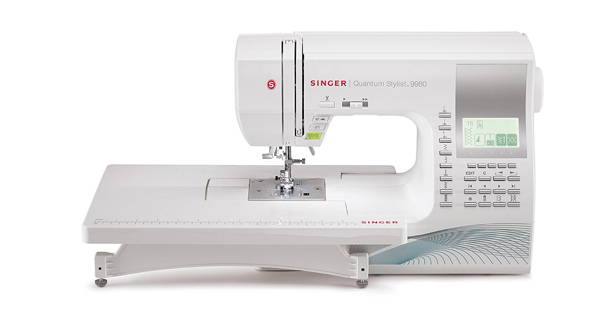 SINGER 9960 Quantum Stylist Computerized Portable 600 Stitches Sewing Machine image