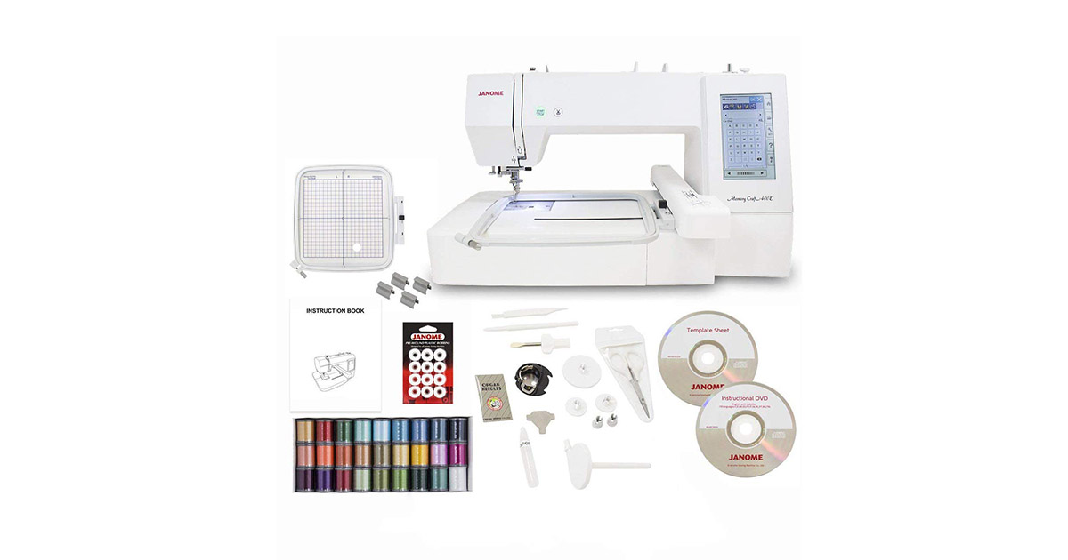 Janome Memory Craft 400E Embroidery Machine image