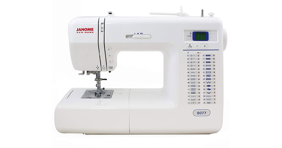 Janome 8077 Computerized 30 Built-In Stitches Sewing Machine image